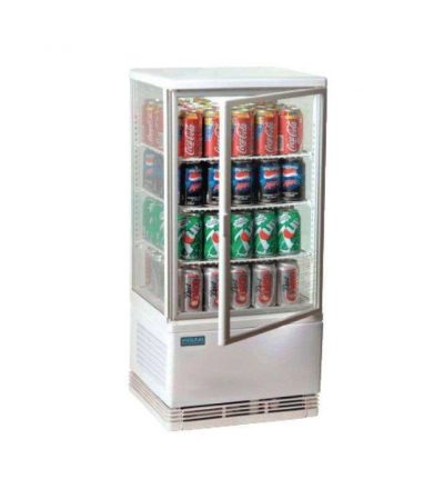 Expositor refrigerado  iluminado 68 litros blanco