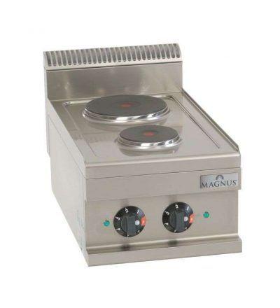 Cocina eléctrica de 2 fuegos 400 x 600 mm.
