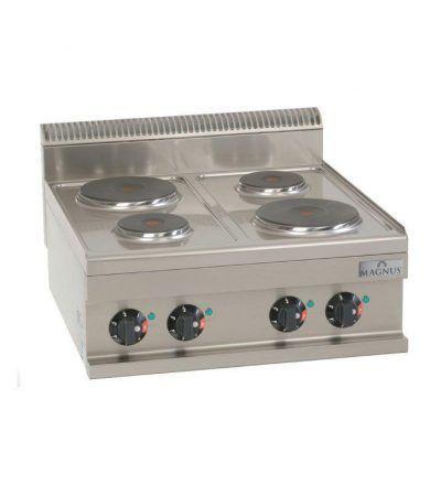 Cocina eléctrica 600 x 600 mm. 4 fuegos