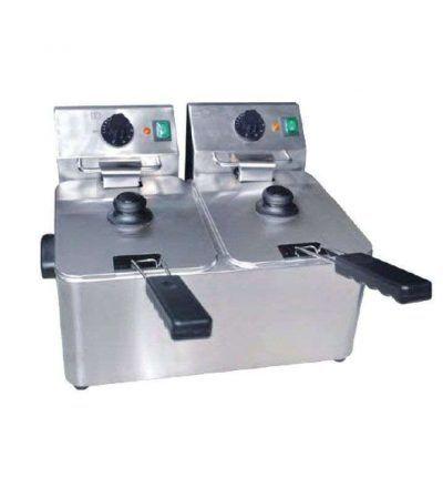 Freidora eléctrica dos cubas 4 + 4 eco