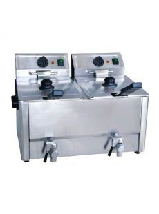 freidora eléctrica 8 litros inox con grifo