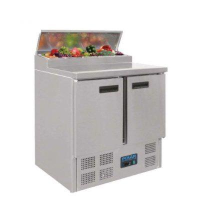 Mostrador frigorífico para preparación ensaladas 2 puertas
