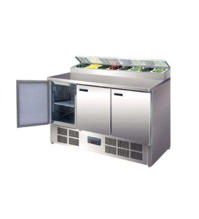 Mostrador refrigerado para ensaladas 3 puertas