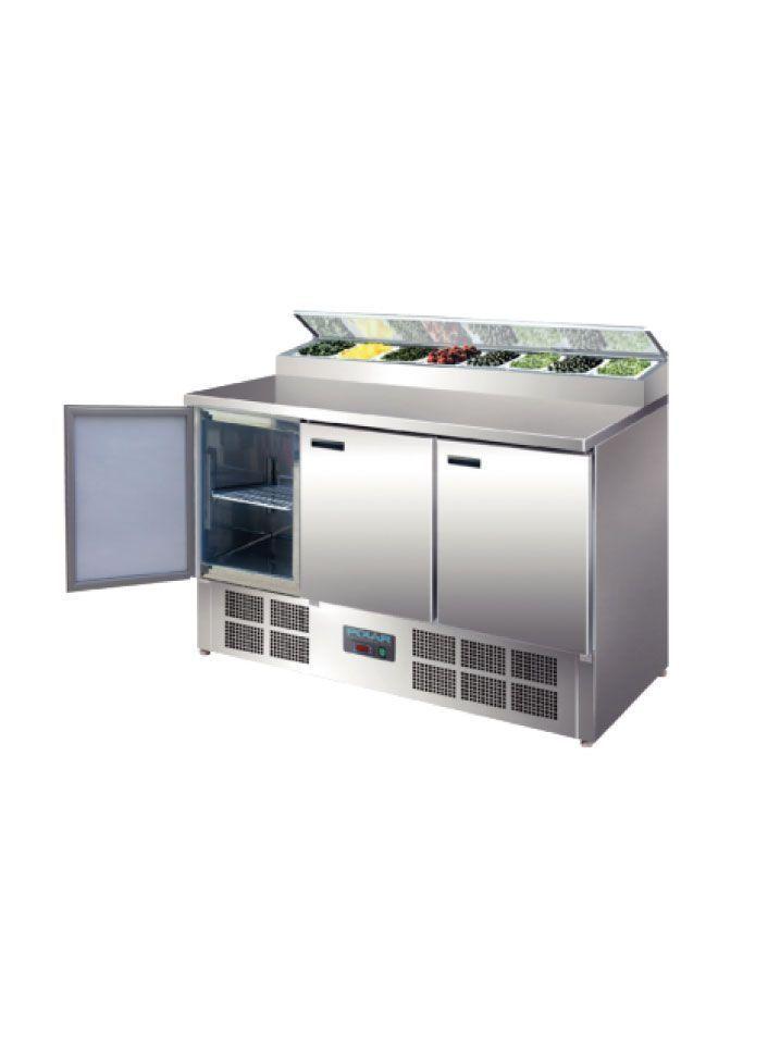 Mesa refrigerada cubetas