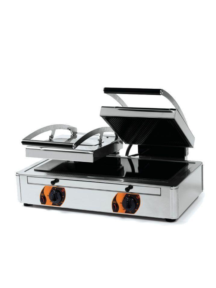 grill vitroceramico doble