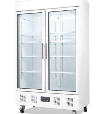 Vitrina doble puerta de vidrio 944 litros de capacidad