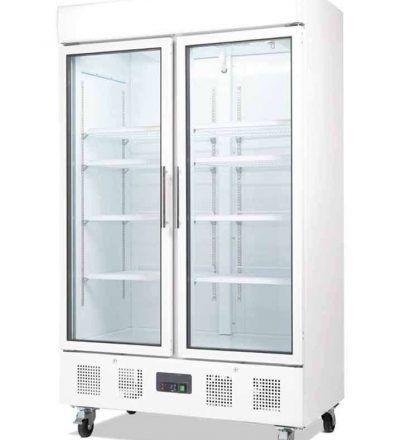 VITRINA DOBLE PUERTA D984NI 400x440 - Vitrina doble puerta de vidrio 944 litros de capacidad
