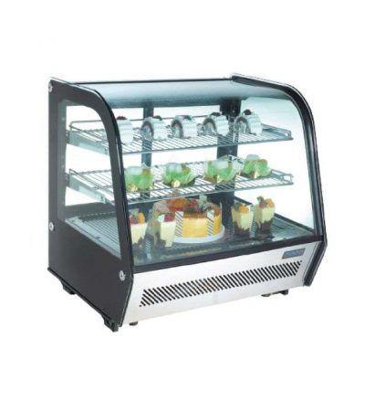 Vitrina expositora refrigerada 2 estantes de 120 litros
