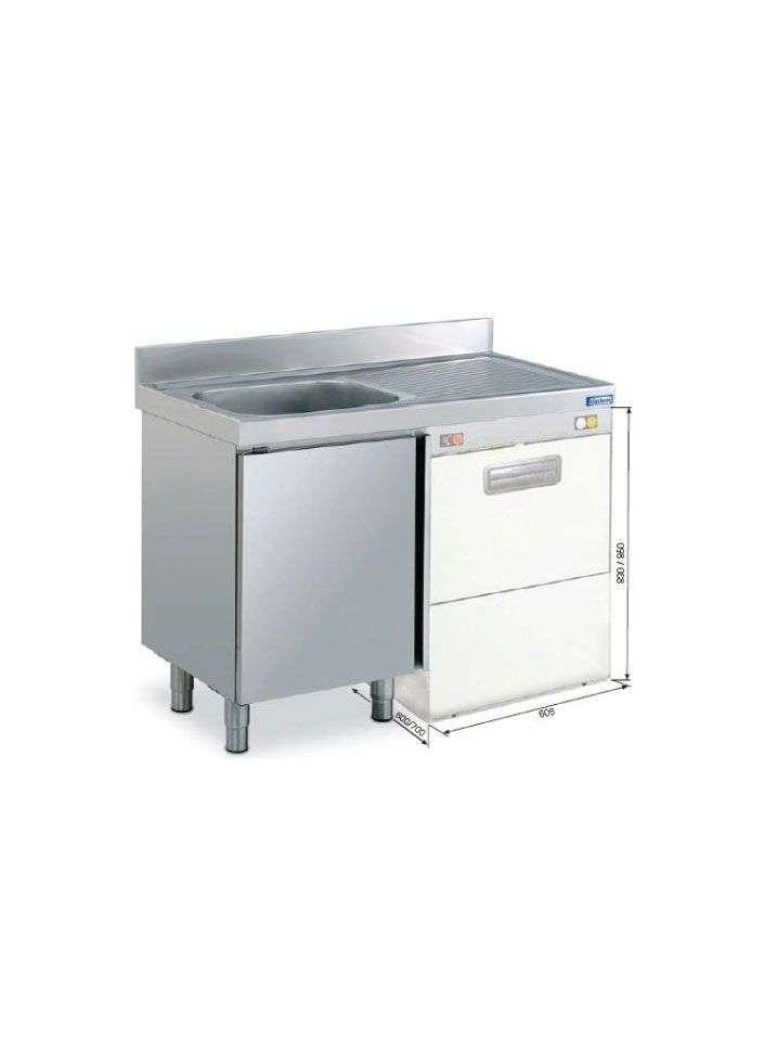Mueble fregadero 1 cuba escurridor fregaderos de acero - Fregadero con mueble ...