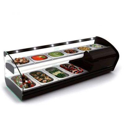 Vitrina mostrador refrigerada de 10 y 14 bandejas