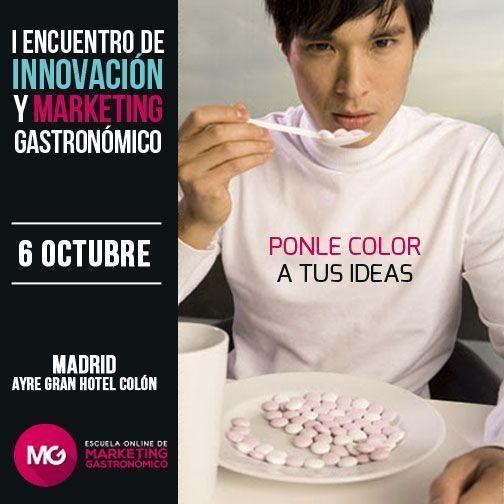Cartel primer encuentro marketing gastronomico