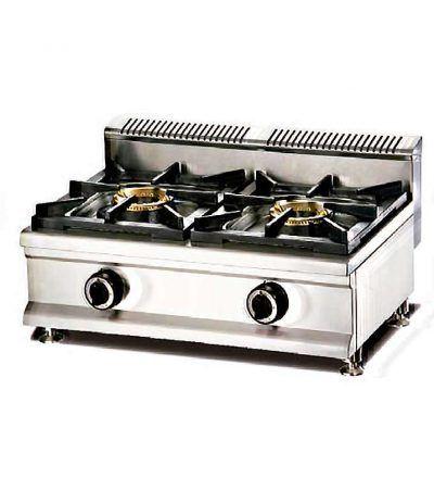 Cocina a gas modular 2 fuegos