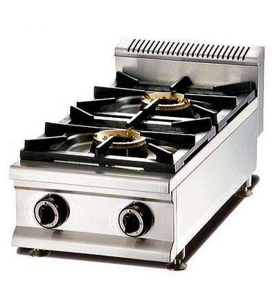 Cocina gas modular 2 fuegos vertical