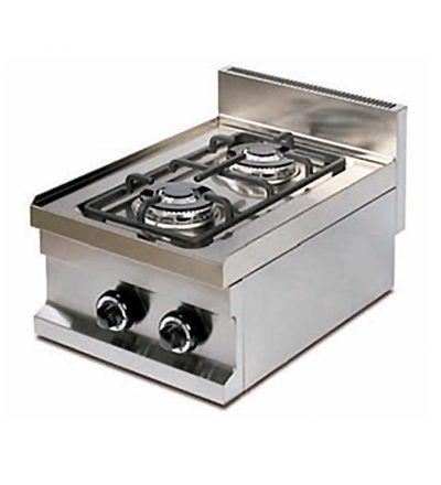 Cocina gas de dos fuegos