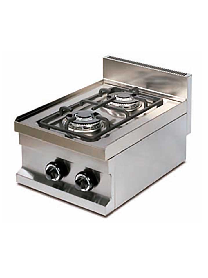 cocina gas de dos fuegos cg40600