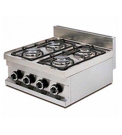 Cocina gas de cuatro fuegos