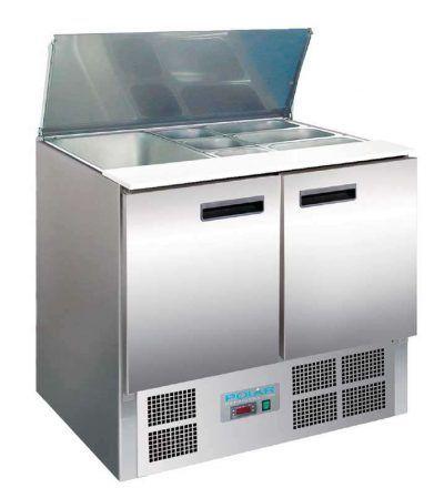 Mostrador de preparación frigorífico 2 puertas 240 litros