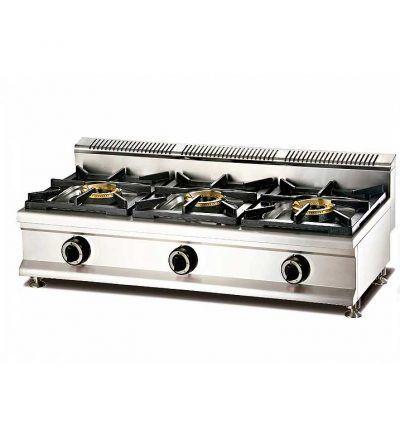 cocina a gas modulable de tres fuegos