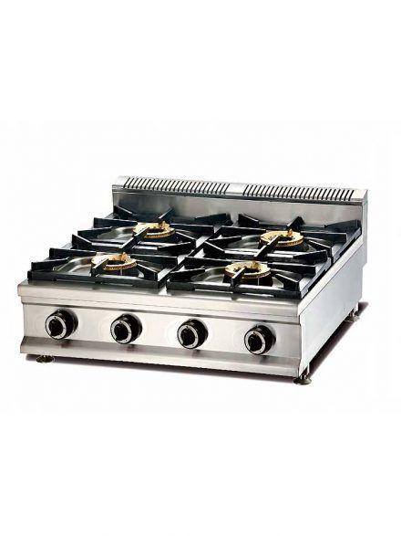 Cocina gas modulable 4 fuegos