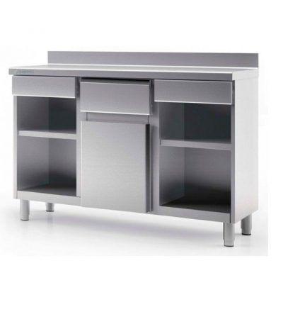 Mueble cafetero MCD 100 CH 400x440 - Maquinaria hosteleria ocasion: Muebles de acero