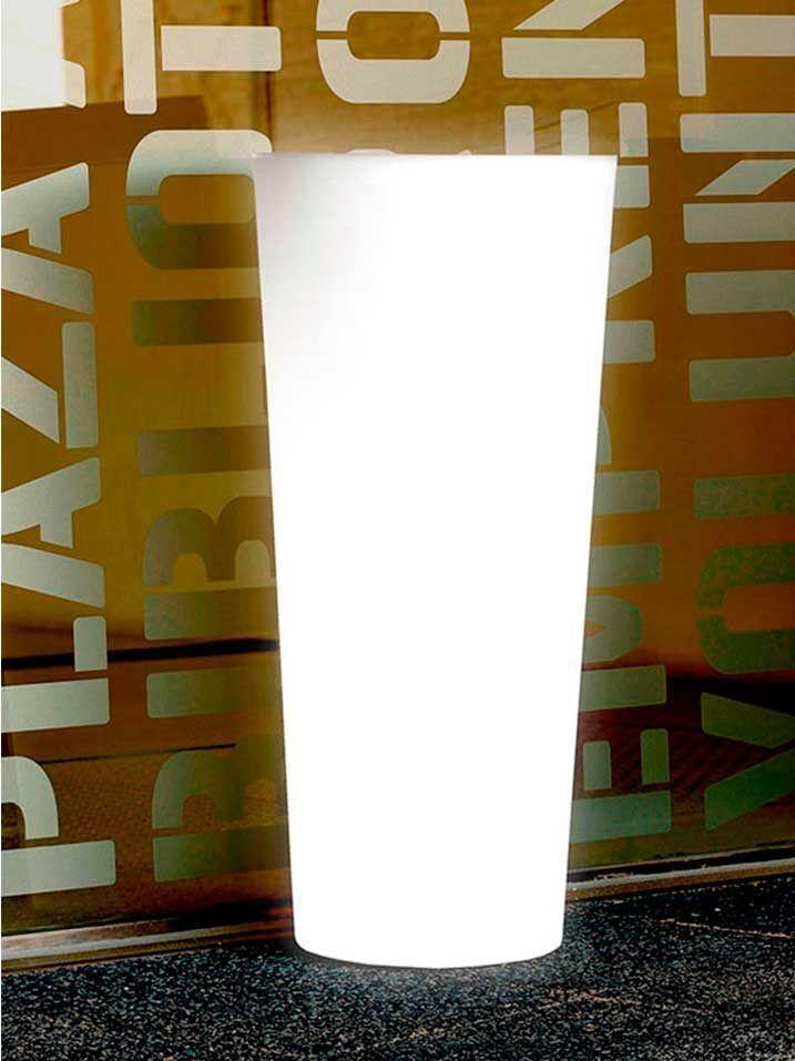 macetero con luz