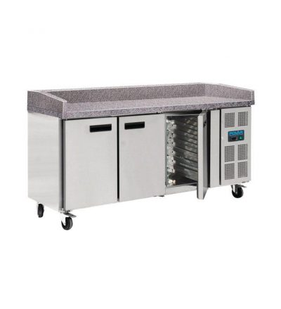 Mostrador preparación frigorifico euronorm 3 puertas
