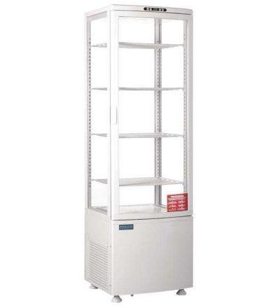 Vitrina refrigerada vertical puerta curva
