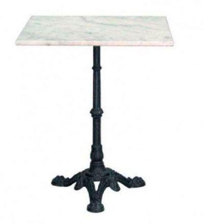 mesa cuadrada marmol