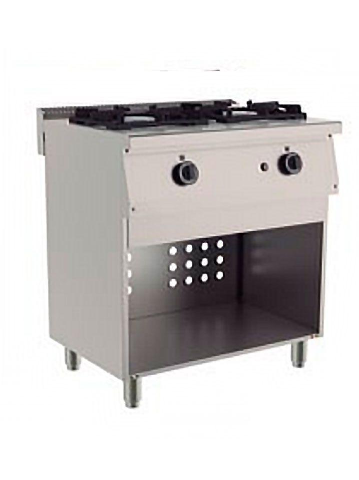 cocina 2 fuegos armario abierto