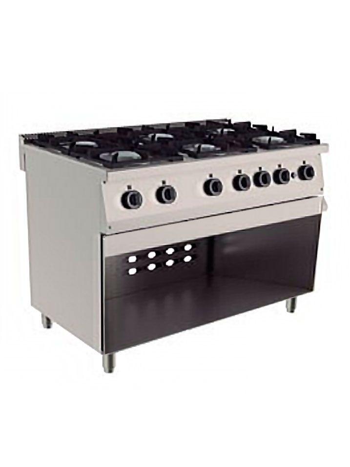 cocina 6 fuegos armario abierto