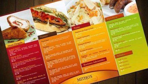 Diseño de cartas de menu