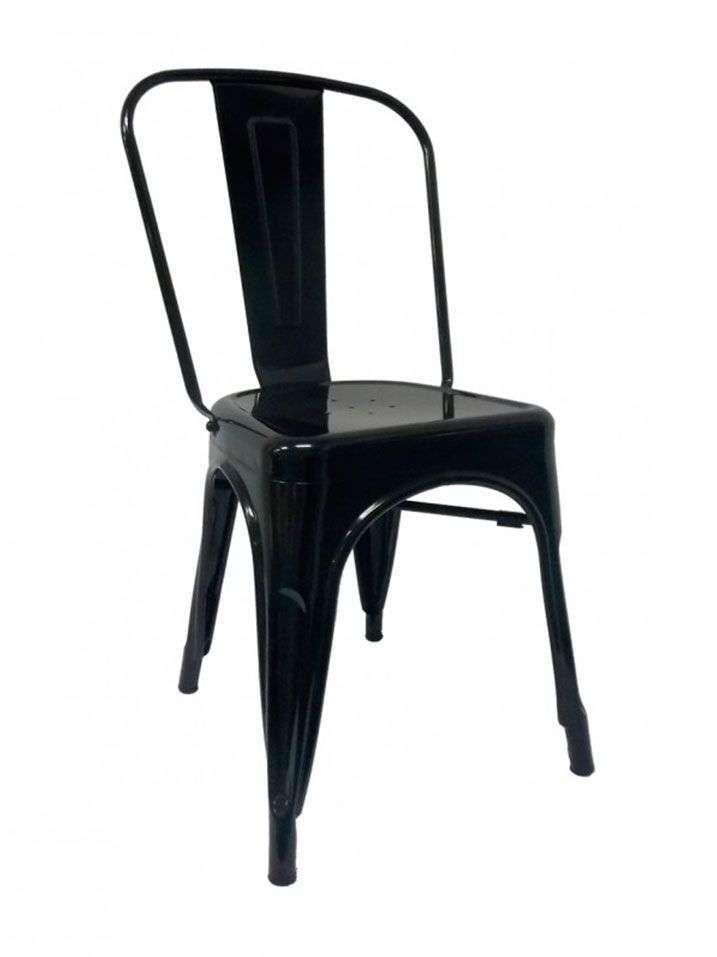 silla tolix negra - SILLA TOLIX REPLICA STLR-RM