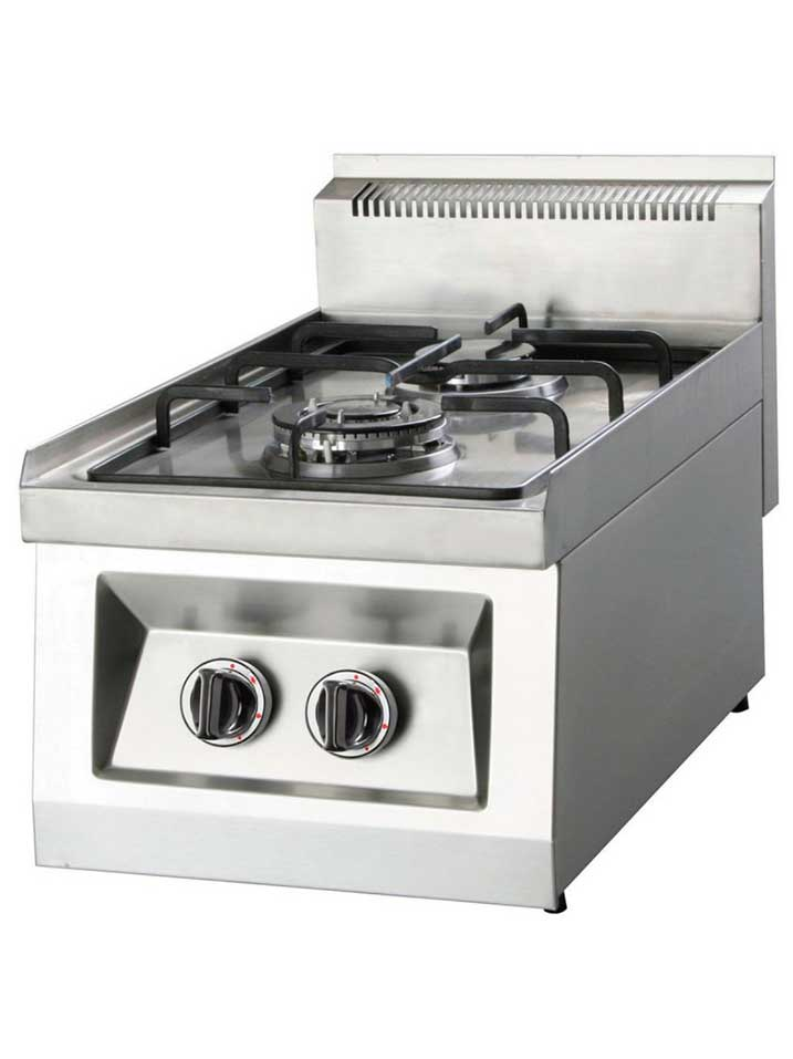 Cocina sobremesa 2f maquinaria hosteleria cocinas for Cocina 3 fuegos sobremesa