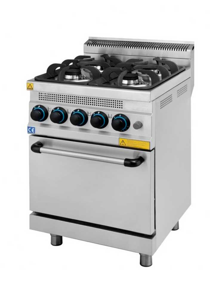 Cocina horno gas tz6g maquinaria hosteleria cocinas for Cocinas de gas ciudad