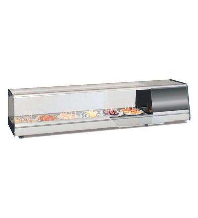 Bandeja fria de tapas cristal plano de 1050 mm a 1750 mm.
