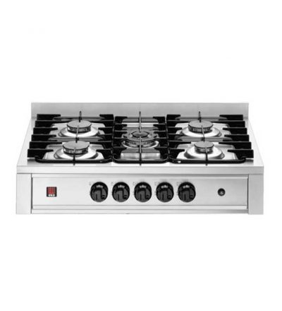 Cocina a gas 5 fuegos 900 mm.