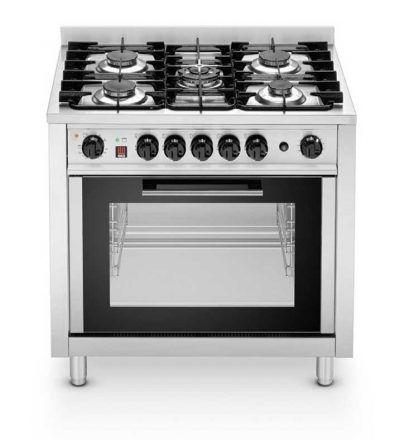Cocina a gas 5 quemadores con horno