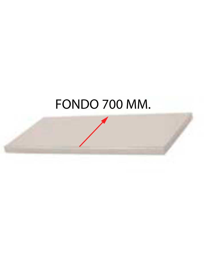 ESTANTE PARA FREGADERO FONDO 700 MM HUECO LAVAVAJILLAS DESMONTADO EFF-700LD-COF