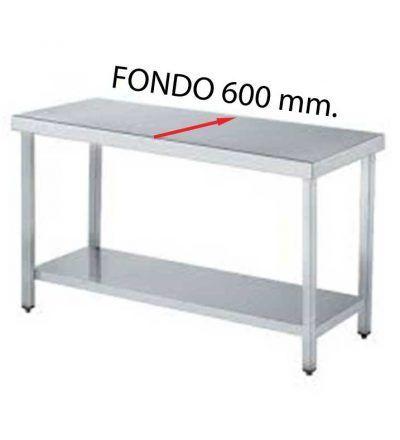 Mesa central fondo 600 de diferentes medidas (con estante)