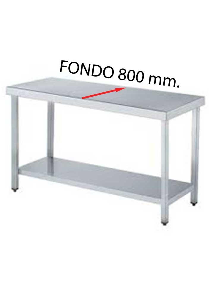 MESA CENTRAL FONDO 800 DE DIFERENTES MEDIDAS (CON ESTANTE) MCF800CE-COF