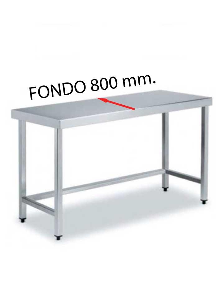 MESA CENTRAL FONDO 800 DE DIFERENTES MEDIDAS (SIN ESTANTE)  MCF800SE-COF