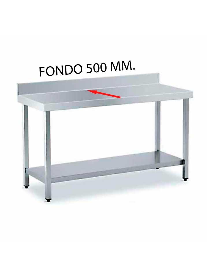 MESA MURAL FONDO 500 DE DIFERENTES MEDIDAS (CON ESTANTE) MF500CE-COF