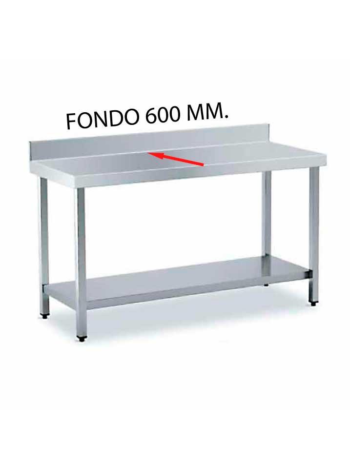 MESA MURAL FONDO 600 MM. DE DIFERENTES MEDIDAS (CON ESTANTE) MF600CE-COF