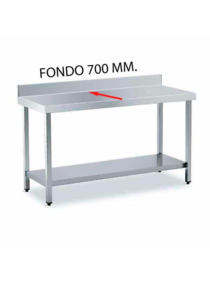 MESA MURAL FONDO 700 DE DIFERENTES MEDIDAS (CON ESTANTE) MF700CE-COF