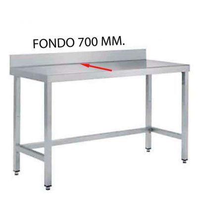 Mesa mural fondo 700 mm. de diferentes medidas (sin estante)