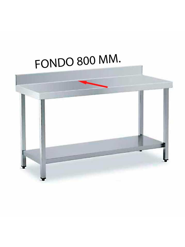 MESA MURAL FONDO 800 DE DIFERENTES MEDIDAS (CON ESTANTE) MF800CE-COF