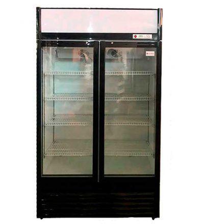 Armario frigorifico 2 puertas cristal
