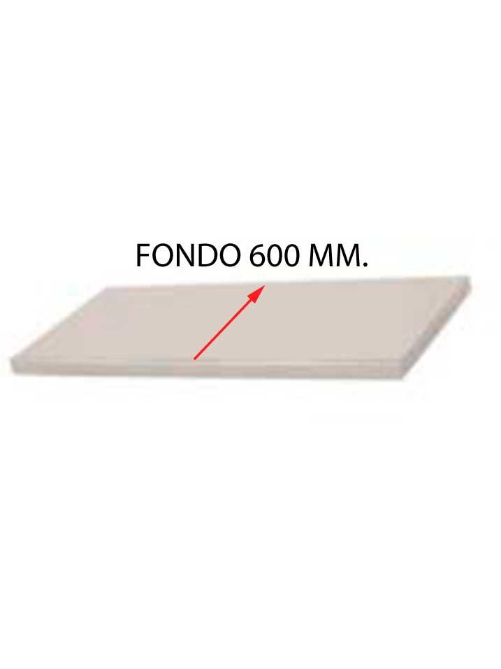 ESTANTE PARA FREGADERO DESMONTADO FONDO 600 MM CON BASTIDOR EFF600D-COF