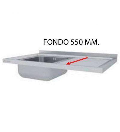 Fregadero montado fondo 550 mm