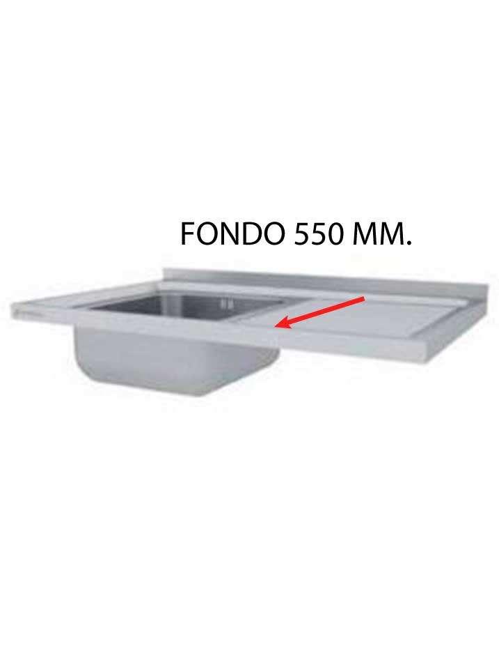 FREGADERO MONTADO FONDO 550 MM  FF550-COF